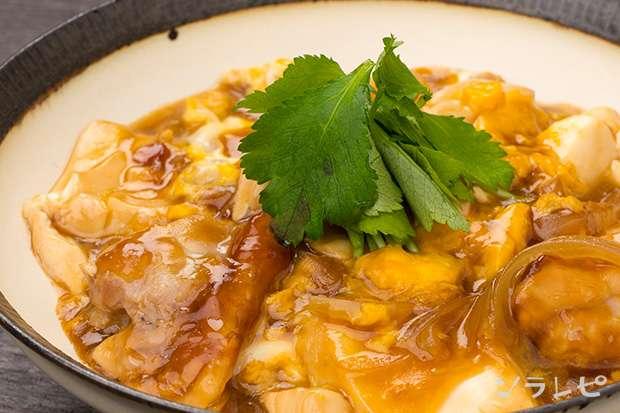 鶏肉と豆腐の卵とじ_main1